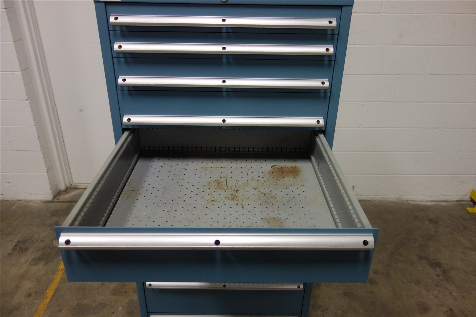 Used Lista 10 Drawer Cabinet 66 Tall Industrial Tool Box