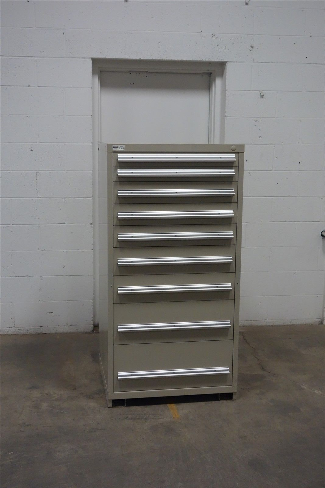 Used Stanley Vidmar 9 Drawer Cabinet Industrial Tool Parts