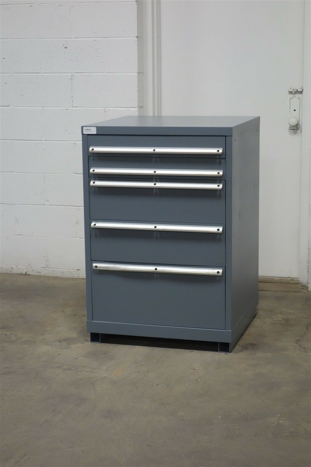 Used Lista 5 Drawer Cabinet 42 Inch Tall Industrial Tool