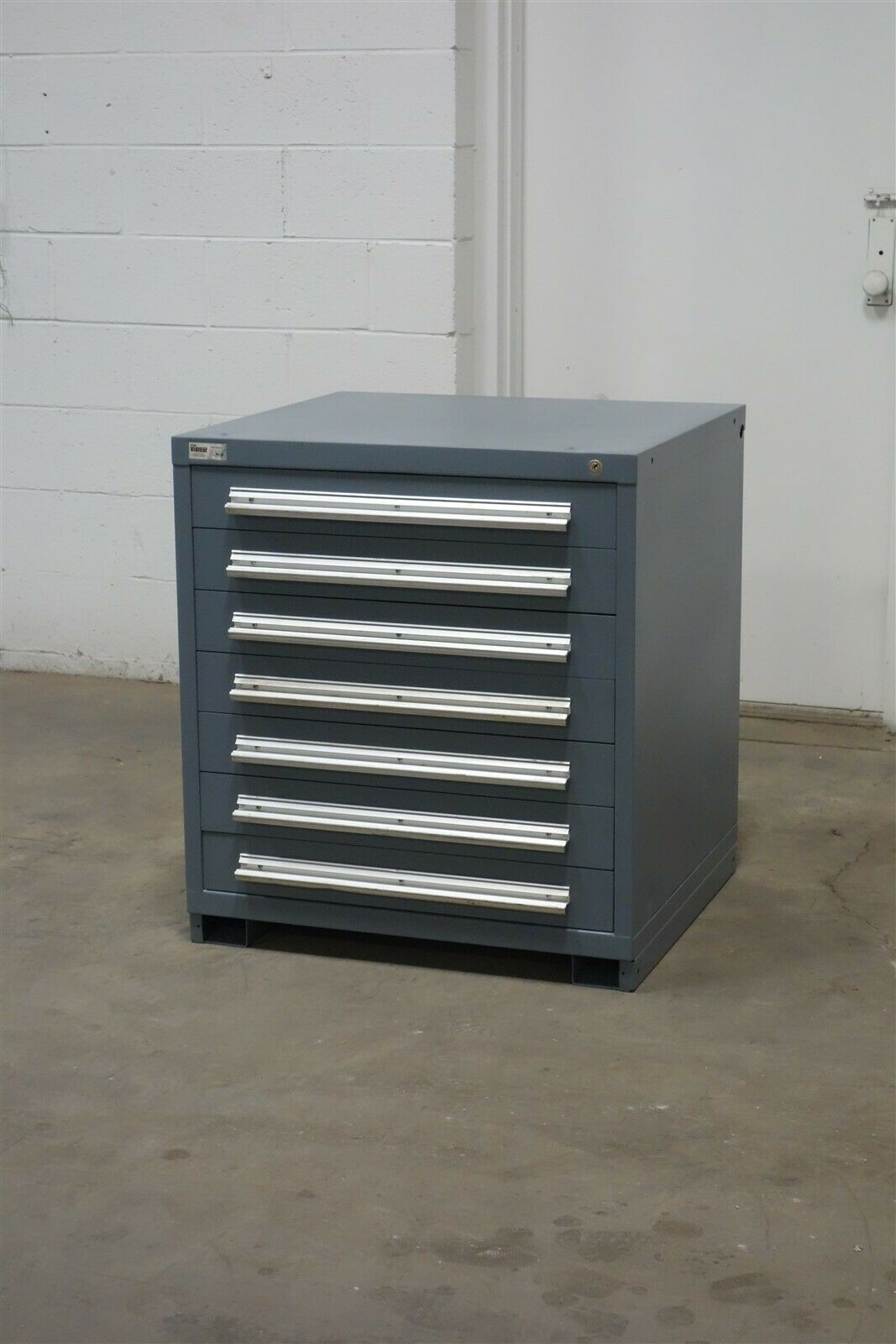 Used Vidmar 7 Drawer Cabinet 33 Tall Industrial Storage